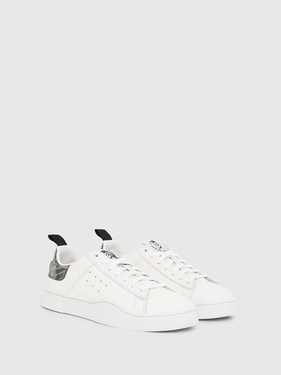 Diesel - S-CLEVER LOW W, Bianco/Argento - Sneakers - Image 2