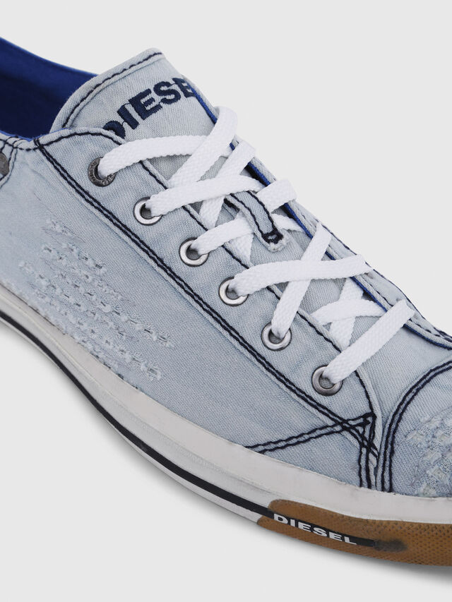 Diesel - EXPOSURE LOW I, Blu Chiaro - Sneakers - Image 4