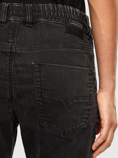 Diesel - Krailey JoggJeans 009FY, Nero/Grigio scuro - Jeans - Image 4