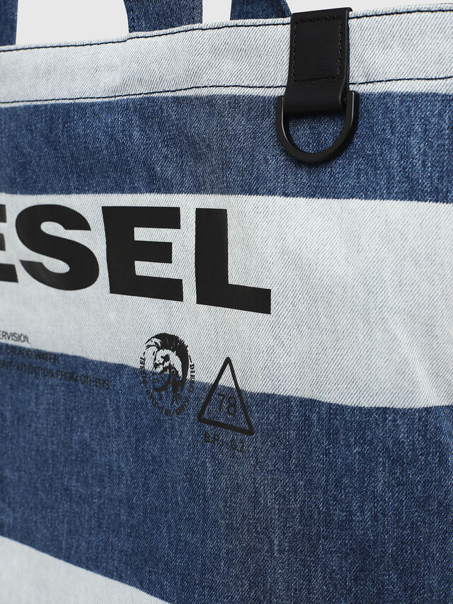 Diesel - F-THISBAG SHOPPER NS, Blu Jeans - Shopper e Borse a Spalla - Image 4