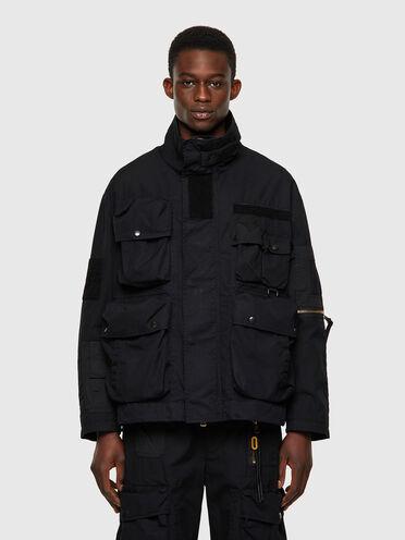 Field jacket in tela di cotone-nylon