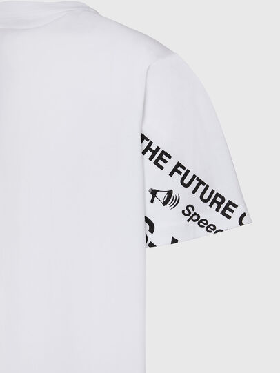 Diesel - T-JUST-FOLDED, Bianco - T-Shirts - Image 4