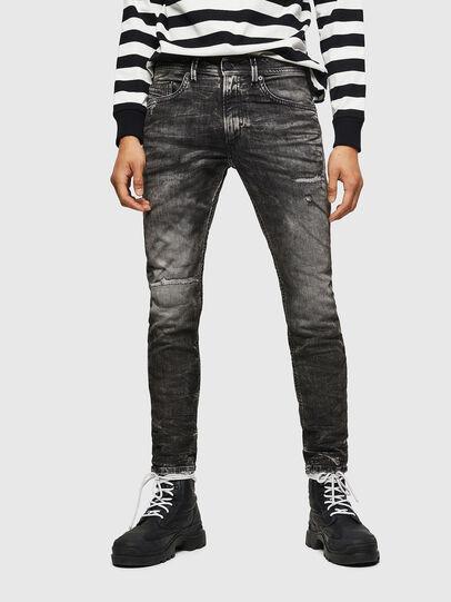 Diesel - Thommer JoggJeans 0890B, Nero/Grigio scuro - Jeans - Image 1