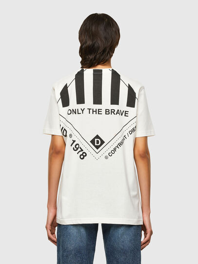 Diesel - T-JUST-N40, Bianco - T-Shirts - Image 4