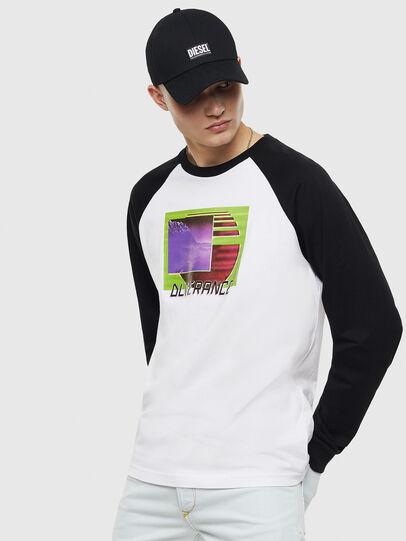 Diesel - T-RODDI, Bianco/Nero - T-Shirts - Image 1