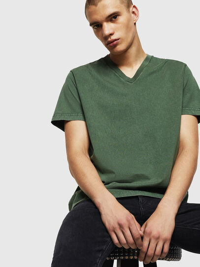 Diesel - T-THEA, Verde Scuro - T-Shirts - Image 4
