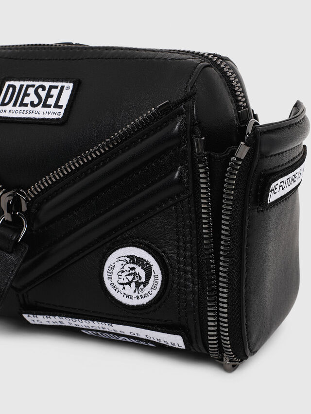 Diesel - LE-ZIPPER CROSSBODY, Nero - Borse a tracolla - Image 5