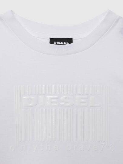 Diesel - TUDERCODE OVER, Bianco - T-shirts e Tops - Image 3