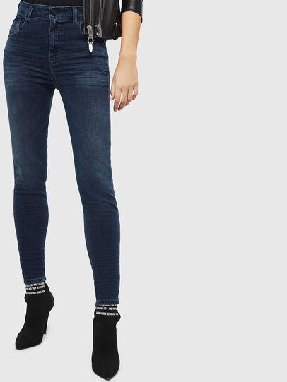 Diesel - Slandy High 084UT, Blu Scuro - Jeans - Image 1