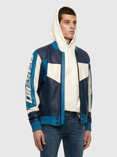 Diesel - L-MAY, Blu/Bianco - Giacche di pelle - Image 7
