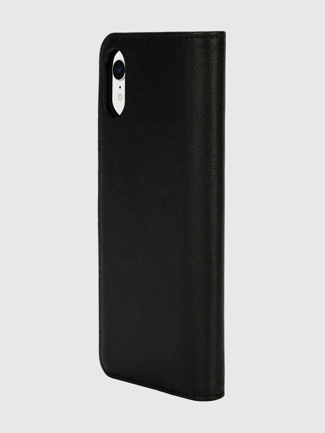 Diesel - DIESEL 2-IN-1 FOLIO CASE FOR IPHONE XR, Nero/Bianco - Cover a libro - Image 5
