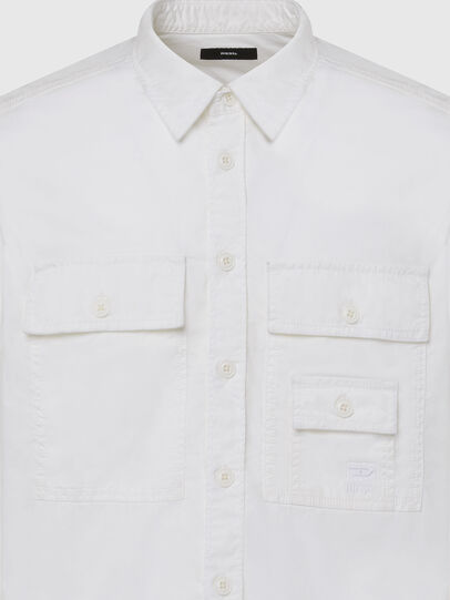 Diesel - S-ALLEN-KA, Bianco - Camicie - Image 3