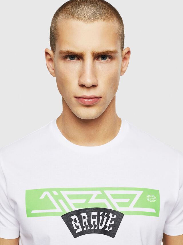 Diesel - T-DIEGO-A1, Bianco - T-Shirts - Image 3