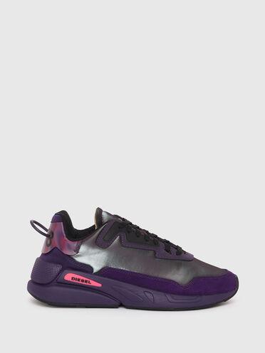 Sneaker in nylon iridescente