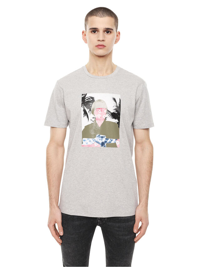 Diesel - TY-SOLDIER, Grigio - T-Shirts - Image 1
