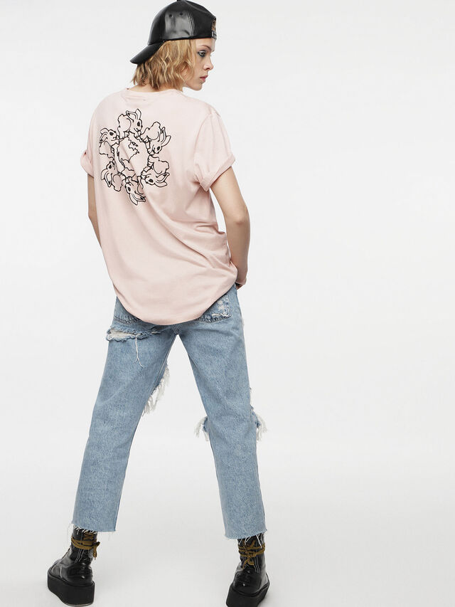 Diesel - T-DARIA, Cipria - T-Shirts - Image 2