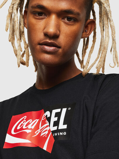 Diesel - CC-T-JUST-COLA, Nero - T-Shirts - Image 5