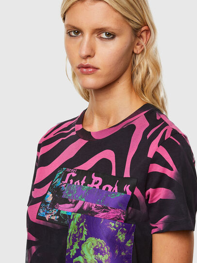 Diesel - T-SILY-R3, Nero/Rosa - T-Shirts - Image 3