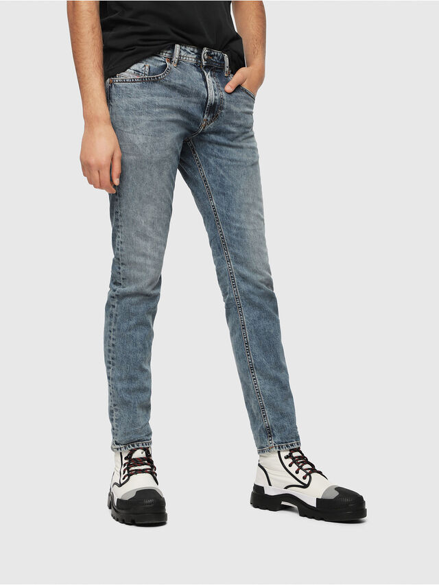 Diesel - Thommer 084UX, Blu medio - Jeans - Image 1