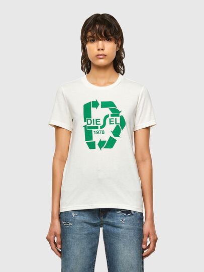 Diesel - T-SILY-V32, Bianco - T-Shirts - Image 1