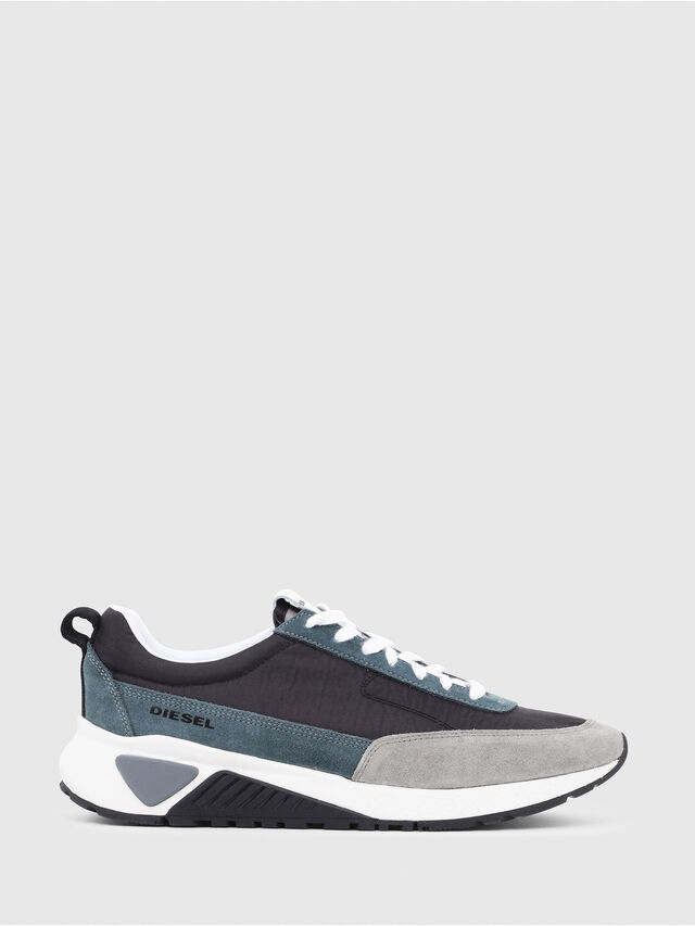 Diesel - S-KB LOW LACE, Grigio/Blu - Sneakers - Image 1