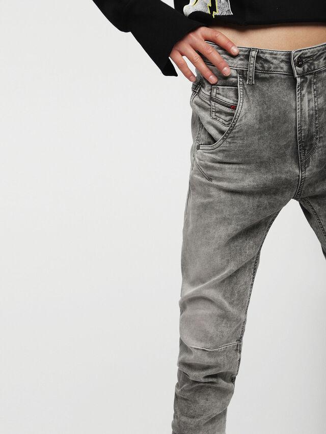 Diesel - Fayza JoggJeans 0855B, Grigio Chiaro - Jeans - Image 3