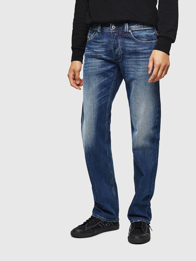 Diesel - Larkee 008XR, Blu Scuro - Jeans - Image 1