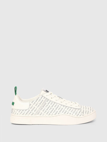 Diesel - S-CLEVER LOW LACE, Bianco/Verde - Sneakers - Image 1