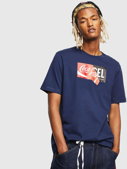 Diesel - CC-T-JUST-COLA, Blu Scuro - T-Shirts - Image 1