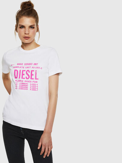 Diesel - T-SILY-ZF, Bianco - T-Shirts - Image 1