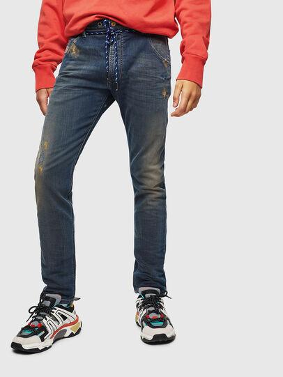 Diesel - Krooley JoggJeans 0870Z, Blu Scuro - Jeans - Image 1