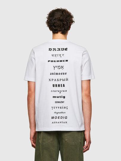 Diesel - T-JUST-B59, Bianco - T-Shirts - Image 2