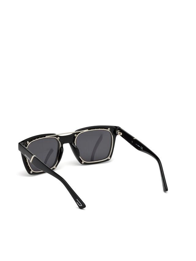 Diesel - DL0250, Nero Brillante - Occhiali da sole - Image 3