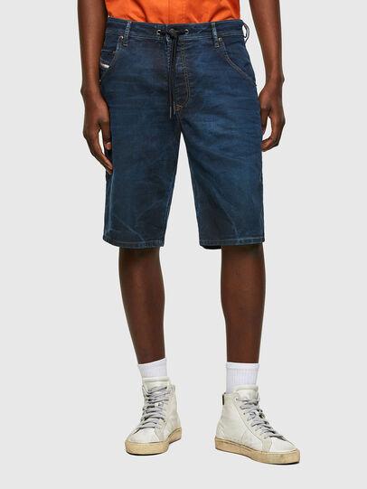 Diesel - D-KROOSHORT-Y JOGGJEANS, Blu Scuro - Shorts - Image 1