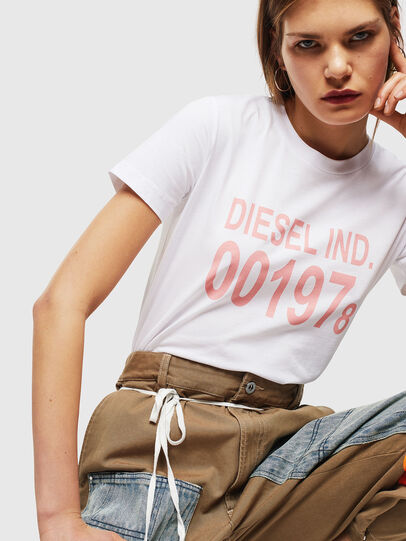 Diesel - T-SILY-001978, Bianco - T-Shirts - Image 4