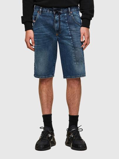 Diesel - D-KROOSHORT-Y-GO JOGGJEANS, Blu Scuro - Shorts - Image 1
