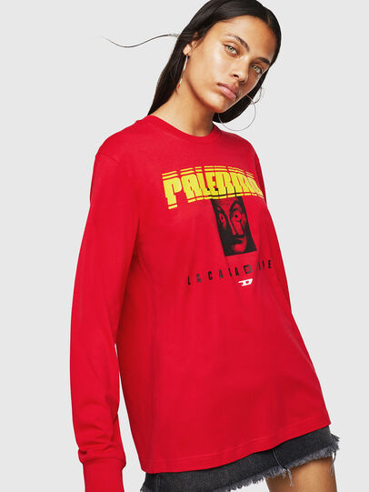 Diesel - LCP-T-JUST-LS-PALERM, Rosso - T-Shirts - Image 2