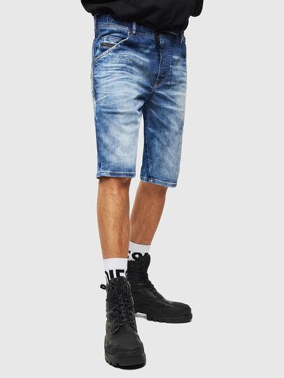 Diesel - D-KROOSHORT-T, Blu medio - Shorts - Image 1
