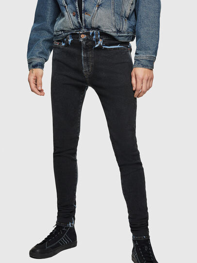 Diesel - D-Istort 0094B, Blu Scuro - Jeans - Image 1