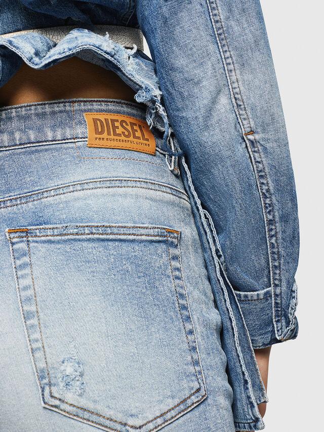 Diesel - D-Eiselle 084AA, Blu Chiaro - Jeans - Image 5
