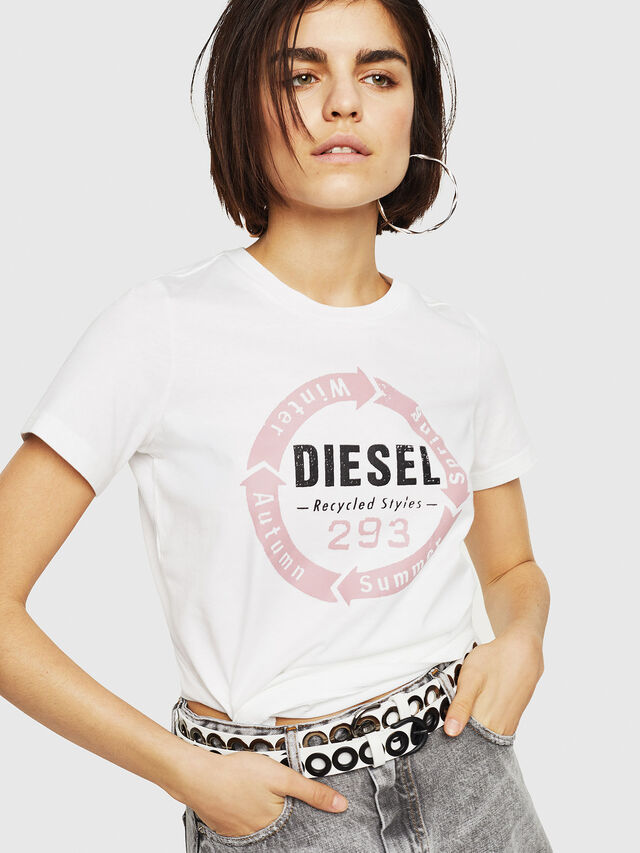 Diesel - T-SILY-C1, Bianco - T-Shirts - Image 1
