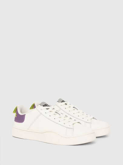 Diesel - S-CLEVER LOW LACE W, Bianco/Viola - Sneakers - Image 2