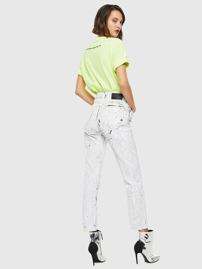 Diesel - T-JUST-SLITS-FLUO, Giallo Fluo - T-Shirts - Image 6
