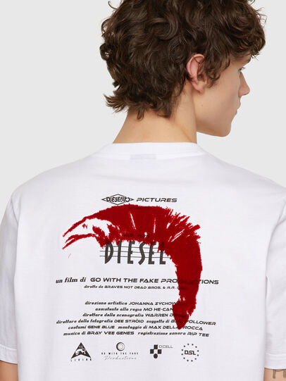 Diesel - T-JUST-E4, Bianco - T-Shirts - Image 3