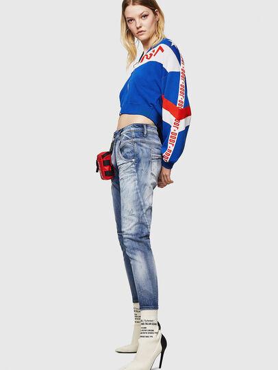 Diesel - Fayza JoggJeans 0870N, Blu medio - Jeans - Image 4