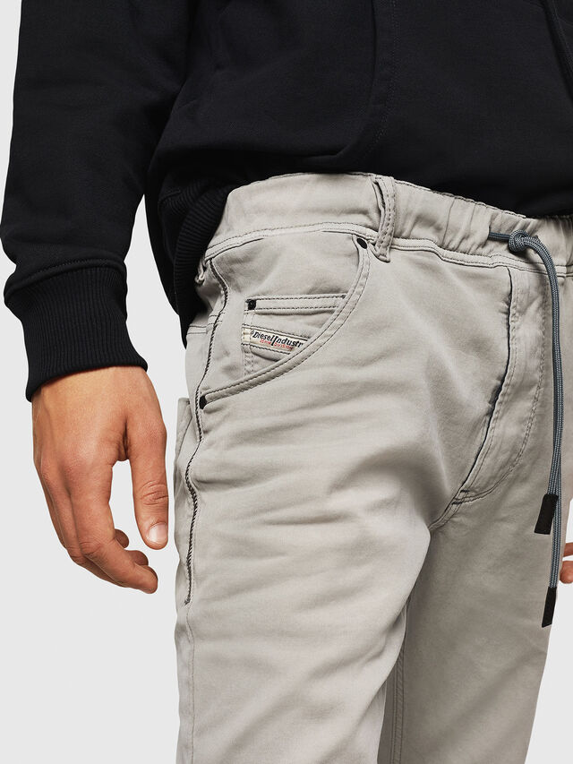 Diesel - Krooley JoggJeans 0670M, Grigio Chiaro - Jeans - Image 3