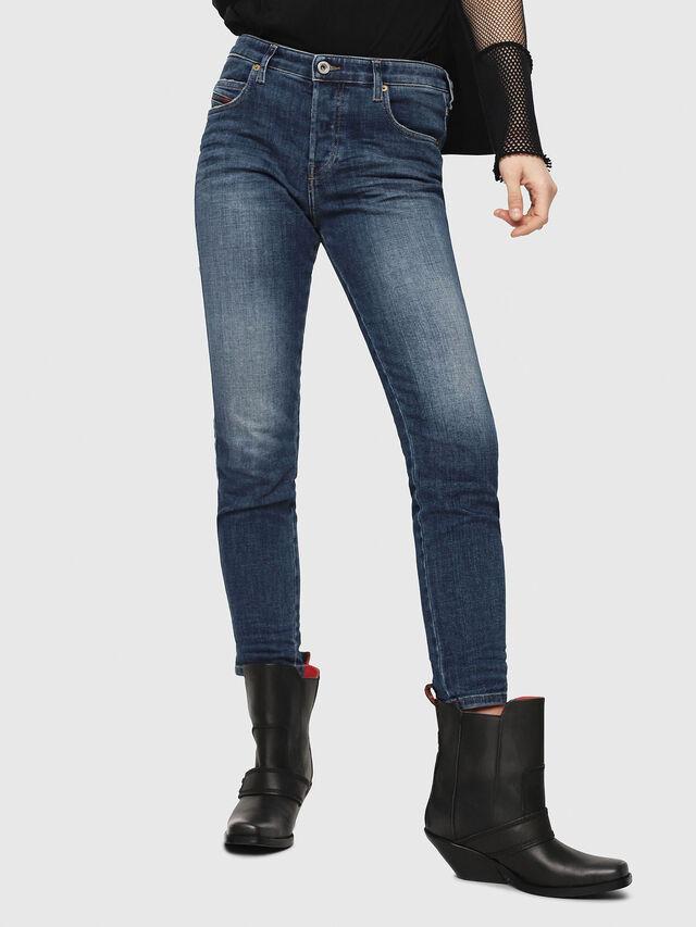 Diesel - Babhila 081AI, Blu Scuro - Jeans - Image 1