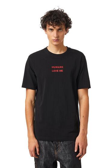T-shirt Green Label con stampa alieno