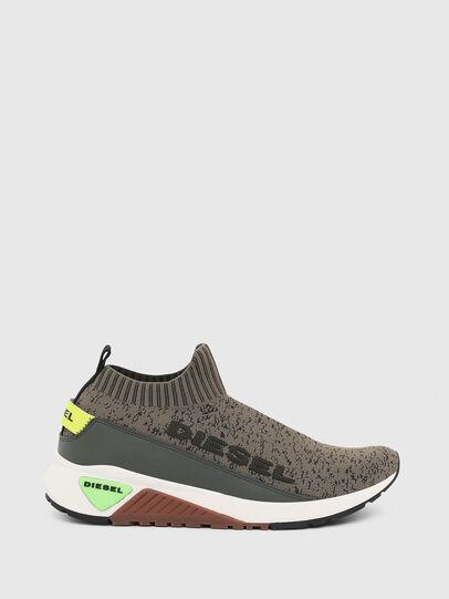 Diesel - S-KB SOCK QB, Verde Oliva - Sneakers - Image 1