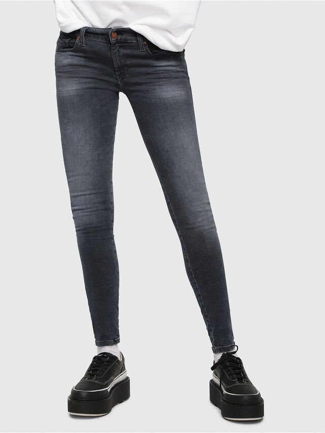 Diesel - Slandy Low 069BT, Blu Scuro - Jeans - Image 1